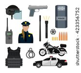 Vector Set Of Police Objects...