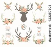 flower antlers collections | Shutterstock .eps vector #423357805