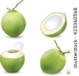 coconut and haft slice coconut...   Shutterstock .eps vector #423360568