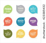 modern badges collection | Shutterstock .eps vector #423385432