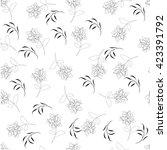 flower floral pattern flower...   Shutterstock . vector #423391792