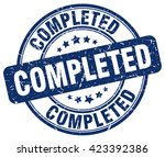 completed. stamp | Shutterstock .eps vector #423392386