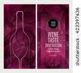 design template background wine ... | Shutterstock .eps vector #423397636