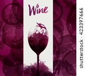 design template background wine ... | Shutterstock .eps vector #423397666