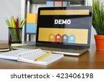 demo concept | Shutterstock . vector #423406198