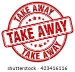 take away. stamp | Shutterstock .eps vector #423416116