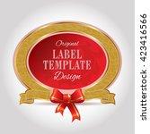 label design template | Shutterstock .eps vector #423416566