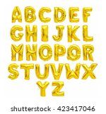 English Alphabet From Yellow ...