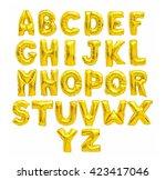 English Alphabet From Yellow ...