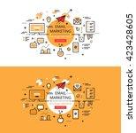 set of modern vector... | Shutterstock .eps vector #423428605