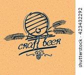 craft beer emblem | Shutterstock .eps vector #423432292