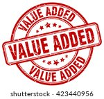 value added. stamp | Shutterstock .eps vector #423440956