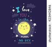 i love you to the moon and back....