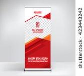 banner roll up design  business ... | Shutterstock .eps vector #423443242