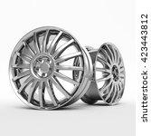 aluminum wheel image 3d  high... | Shutterstock . vector #423443812