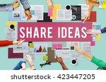 document marketing strategy... | Shutterstock . vector #423447205