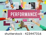 performance efficiency... | Shutterstock . vector #423447316