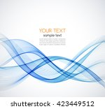 abstract vector wave background.... | Shutterstock .eps vector #423449512