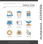 eco simple icon set | Shutterstock .eps vector #423454306