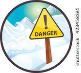 avalanche danger | Shutterstock .eps vector #423458365