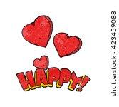 freehand textured happy symbol | Shutterstock .eps vector #423459088