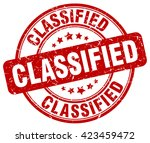 classified. stamp | Shutterstock .eps vector #423459472