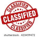classified. stamp | Shutterstock .eps vector #423459472