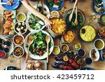 food catering cuisine culinary... | Shutterstock . vector #423459712