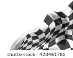 checkered flag background race...