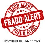 fraud alert. stamp | Shutterstock .eps vector #423477406
