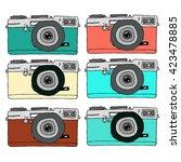 hand drawn camera  vector... | Shutterstock .eps vector #423478885