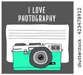 hand drawn camera  vector... | Shutterstock .eps vector #423478912