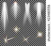 vector concert lighting. stage... | Shutterstock .eps vector #423480556