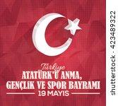 3d style turkey flag elements...   Shutterstock .eps vector #423489322