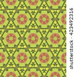 seamless background  pattern... | Shutterstock .eps vector #423492316