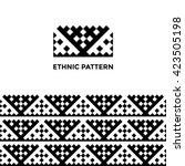 ethnic geometric seamless... | Shutterstock .eps vector #423505198