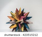 multicolored origami star | Shutterstock . vector #423515212