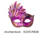 carnival venetian mask isolated ... | Shutterstock . vector #423519838