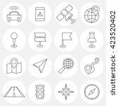 navigation line icons.... | Shutterstock . vector #423520402