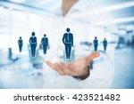 human resources pool  customer...   Shutterstock . vector #423521482