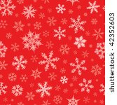 seamless snowflakes pattern | Shutterstock .eps vector #42352603