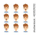 Illustration Boy Faces Showing...