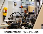 machine for manufacture in... | Shutterstock . vector #423543205