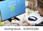 update website webpage... | Shutterstock . vector #423553186