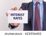 man showing paper with interest ... | Shutterstock . vector #423556402