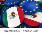 flag badges of mexico and... | Shutterstock . vector #423561082