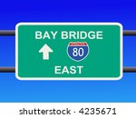 bay bridge interstate 80 sign... | Shutterstock .eps vector #4235671