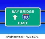 bay bridge interstate 80 sign... | Shutterstock .eps vector #4235671