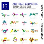 abstract geometric business... | Shutterstock .eps vector #423575326
