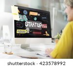 startup launch opportunity plan ... | Shutterstock . vector #423578992